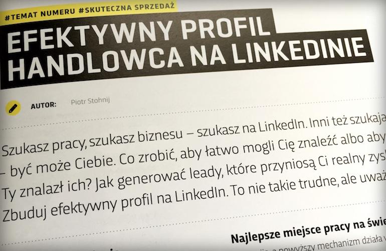 Efektywny profil handlowca na LinkedInie